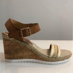KSTUDIO Cork Wedge Sandals